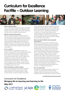 Curriculum for Excellence Factfile – Outdoor Learning