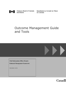 Outcome Management Guide and Tools  Chief Information Officer Branch