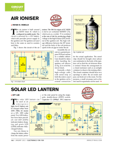 T AIR IONISER IDEAS CIRCUIT