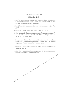 MA424 Example Sheet 3 26 October 2015