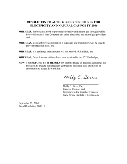 RESOLUTION TO AUTHORIZE EXPENDITURES FOR