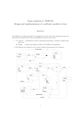 Some solutions to TDDC32 2013-03-15