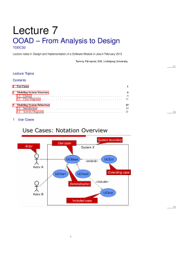 Lecture 7 OOAD – From Analysis to Design TDDC32