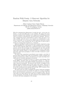 Random Walk Gossip: A Manycast Algorithm for Disaster Area Networks