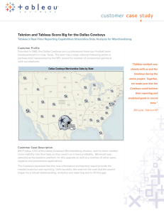 customer case study Teknion and Tableau Score Big for the Dallas Cowboys