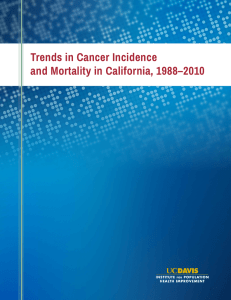 Trends in Cancer Incidence and Mortality in California, 1988–2010 i
