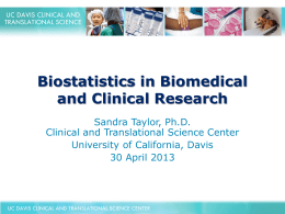 Biostatistics in Biomedical and Clinical Research