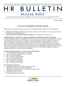 New Career Development Certificate Programs