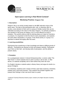 Open-space Learning in Real World Contexts* Workshop Practice:
