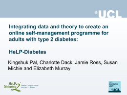 Integrating data and theory to create an online self-management programme for