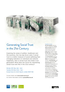 Generating Social Trust in the 21st Century