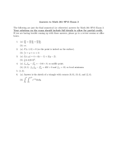 Answers to Math 261 SP15 Exam 2