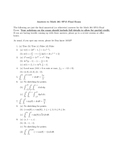 Answers to Math 261 SP15 Final Exam