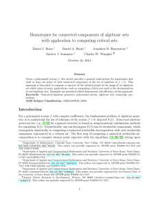 Homotopies for connected components of algebraic sets