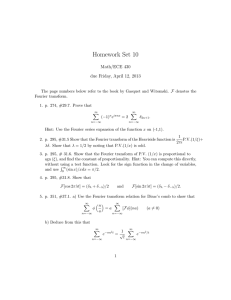 Homework Set 10 Math/ECE 430 due Friday, April 12, 2013