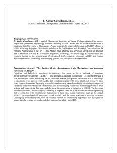 F. Xavier Castellanos, M.D. Biographical Information