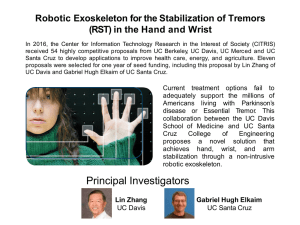 Robotic Exoskeleton for the Stabilization of Tremors