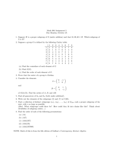 Math 366 Assignment 2 Due Monday, October 25