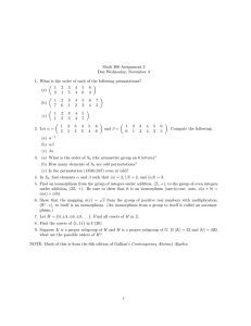Math 366 Assignment 3 Due Wednesday, November 3