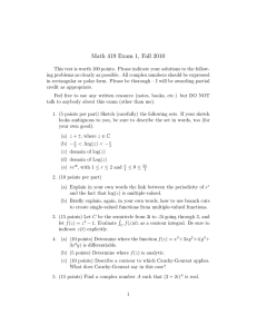 Math 419 Exam 1, Fall 2010