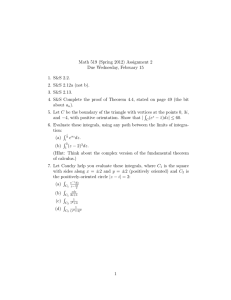 Math 519 (Spring 2012) Assignment 2 Due Wednesday, February 15