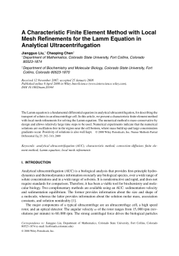A Characteristic Finite Element Method with Local Analytical Ultracentrifugation