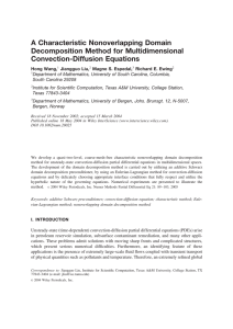 A Characteristic Nonoverlapping Domain Decomposition Method for Multidimensional Convection-Diffusion Equations