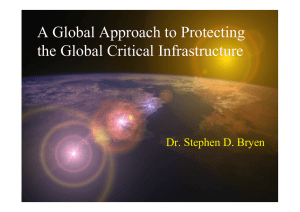 A Global Approach to Protecting the Global Critical Infrastructure