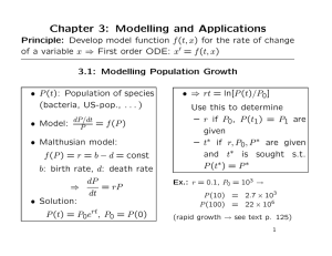 Chapter 3: Modelling and Applications