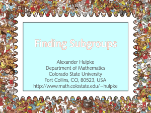 Finding Subgroups