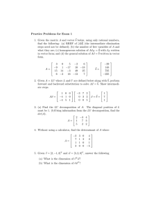 Practice Problems for Exam 1