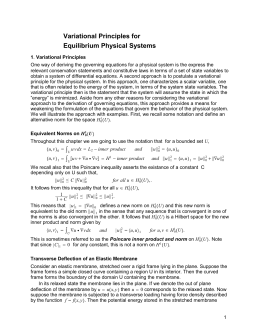 Variational Principles for Equilibrium Physical Systems