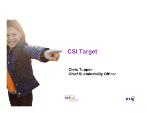 CSI Target Chris Tuppen Chief Sustainability Officer