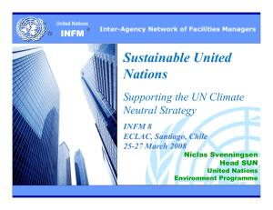 Sustainable United Nations Supporting the UN Climate Neutral Strategy