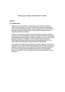 Planning and design requirements for NGN