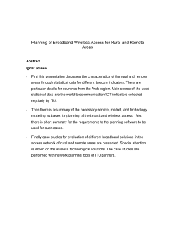 Planning of Broadband Wireless Access for Rural and Remote