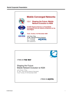 Mobile Converged Networks 1.3.1  Shaping the Future: Mobile Nortel Corporate Presentation