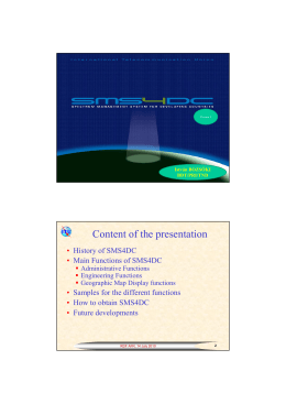 Content of the presentation