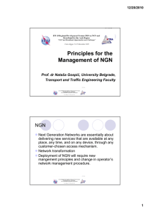 Principles for the Management of NGN NGN