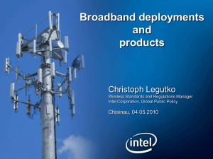Broadband deployments and products Christoph Legutko