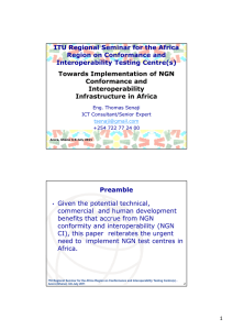 ITU Regional Seminar for the Africa Region on Conformance and Preamble