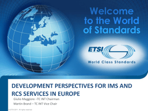DEVELOPMENT PERSPECTIVES FOR IMS AND RCS SERVICES IN EUROPE