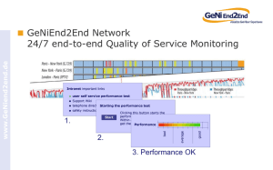 GeNiEnd2End Network 24/7 end-to-end Quality of Service Monitoring 1. 2.