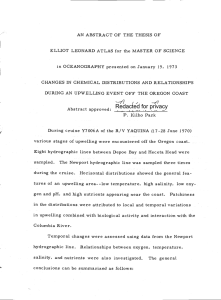 in OCEANOGRAPHY presented on January 19, 1973