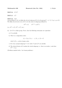 Mathematics 566 Homework (due Oct. 10th) A. Hulpke D&F;3.4: