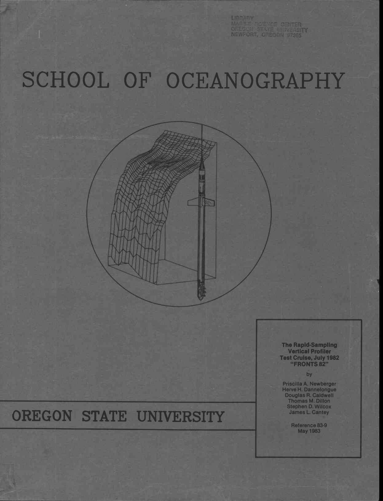 OF OCEANOGRAPHY The Rapid-Sampling Vertical Profiler ... on
