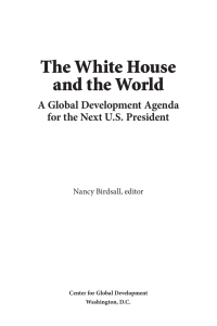 The White House and the World A Global Development Agenda
