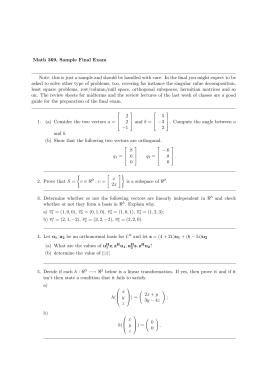 Math 369, Sample Final Exam