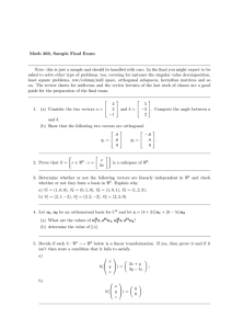 Math 369, Sample Final Exam