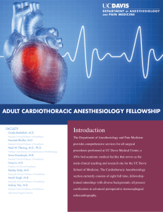 Introduction ADULT CArDioThorACiC AnesThesioLogy FeLLowship